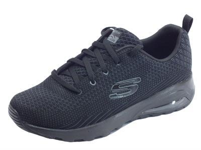 Scarpe sportive per donna Skechers Skech-Air in tessuto nero con memory foam