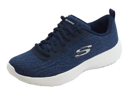 Articolo Scarpe sportive Skechers per donna in tessuto blu memory foam