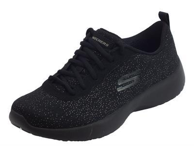 Articolo Scarpe sportive Skechers per donna in tessuto nero memory foam