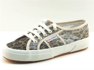 Scarpe Superga modello classico in rete leopardata
