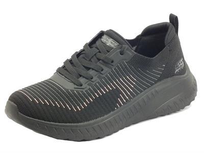 Skechers 117207 Renegade Parade Black Scarpe Sportive per Donna in tessuto
