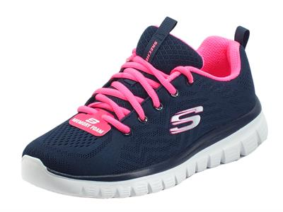 Articolo Skechers 12615 Graceful Get Connected Navy Scarpe Sportive per Donna in tessuto