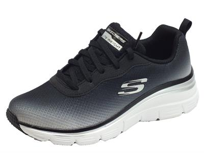 Articolo Skechers 12717/BKW Fashion Fit Build Up Black White Scarpe Sportive Donna in tessuto