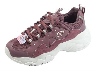 Articolo Skechers 12955/PUR D'Lites 3.0 Zenway Purple scarpe sportive per donna viola