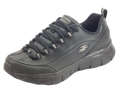 Articolo Skechers 13260 BBK Synergy 3.0 Black Scarpe sportive Donna in ecopelle nera con memory