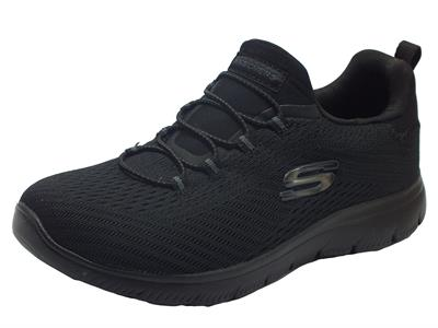 Skechers 149036/BBK Summits Fast Attraction Black Scarpe Sportive Donna tessuto allaccio rapido