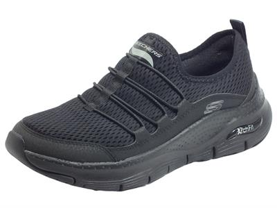 Articolo Skechers 149056 Arch Fit Lucky Thoughts Black Mocassini Sportivi per Donna in tessuto