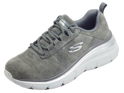 Articolo Skechers 149472/CHAR Fashion Fit Soft Love Charcoal Scarpe Sportive Donna in nabuk con memory foam