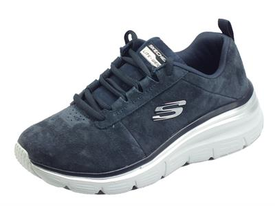 Articolo Skechers 149472/NVY Fashion Fit Soft Love Navy Scarpe Sportive Donna in nabuk con memory foam