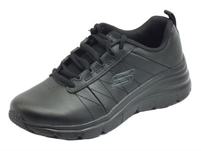 Skechers 149473/BBK Fashion Fit Effortless Black Scarpe Sportive Donna in pelle