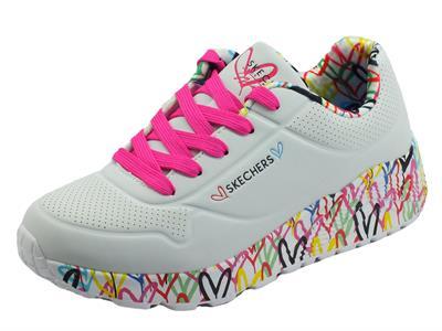 Articolo Skechers 314976L Lovely Luv White Scarpe Sportive per Donna in ecopelle