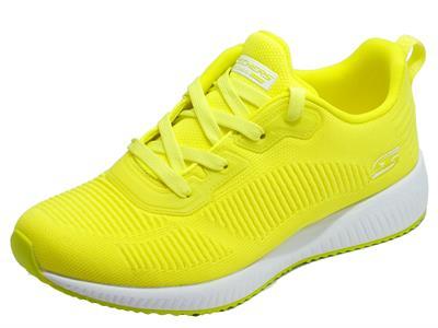 Articolo Skechers 33162/NYEL Bobs Squad Glowrider Neon Yellow Scarpe Sportive Donna in tessuto