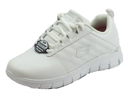 Articolo Skechers 76576EC/WHT Sure Track Erath White Scarpe sportivepelle per Donna fondo antiscivolo