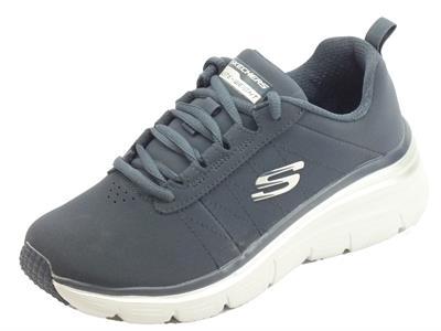 Articolo Skechers 88888366 NVY True Feels Navy Scarpe sportive Donna in econabk blu con memory