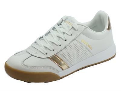 Articolo Skechers 960 WTGD Zinger 2.0 Flicker White Gold Scarpe sportive Donna in ecopelle bianco