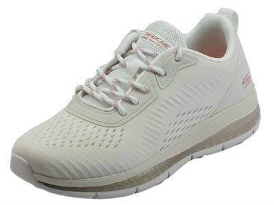 Articolo Skechers BOBS 117101 Bobs Gamma White Scarpe sportive per donna in tessuto Bianco