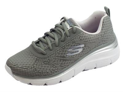 Articolo Skechers Fashion Fit Bold Boundaries Scarpe Sportive per donna grigie e lavanda