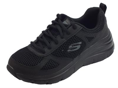 Skechers Fashion Fit Perfect Mate scarpe Sportive donna in tessuto nero