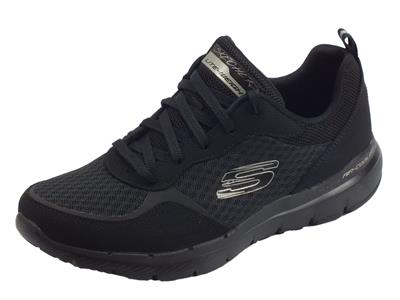 Skechers Flex Appeal 3.0 Go Forward scarpe Sportive donna in tessuto nero