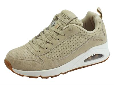 Articolo Skechers Los Angeles 73672/NAT Uno Two For the Show Natual  Scarpe sportive Donna in ecopelle