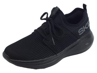 Articolo Skechers Performance Go Run Fast Valor Black scarpe sportive per donna in tessuto nero
