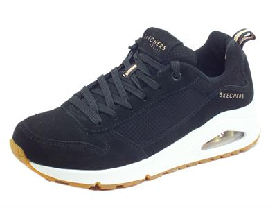 Skechers Street Los Angeles 73672/BLK Two For The Show Black Scarpe sportive per Donna in nabuk