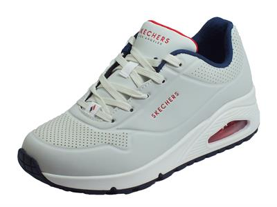 Skechers Street Los Angeles 73690/WNVR Uno Stand On Air White Navy Red Scarpe Sportive Donna