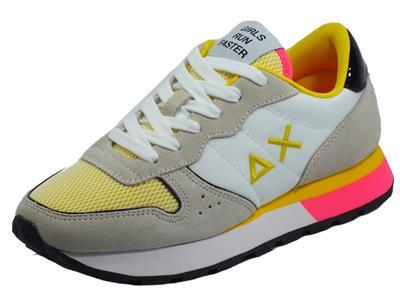 Articolo SUN68 Z31203 Ally Sporty Bianco Running Adult Scarpe Sportive per donna bianco beige e giallo