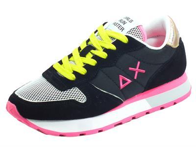 Articolo SUN68 Z31203 Ally Sporty Nero Running Adult Scarpe Sportive per donna nero giallo fuxia