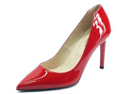 Articolo NeroGiardini E211041DE Vernice Ciliegia Decoltè eleganti per Donna in vernice rossa tacco a spillo