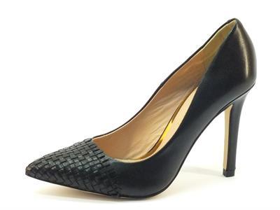 Articolo Decolleté donna CafèNoir in pelle nera tacco 10cm