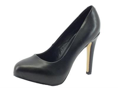 Articolo Decoltè CafèNoir per donna in pelle nera tacco 10cm
