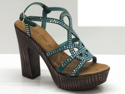 Sandali Mercante di Fiori per donna in camoscio smeraldo