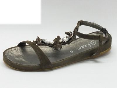 Articolo Sheen sandali da donna in pelle colore sabbia con brillantini