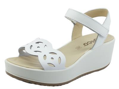 Articolo Igi&Co 7164411 Vitel. Scirocco Bianco Sandali per Donna in pelle con chiusura a stretch