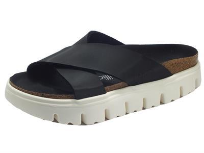 Articolo Papillio 1015908 Daytona Chunky Damasko Black Sandalo per Donna in ecopelle nera