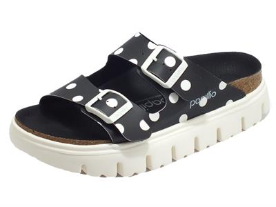Articolo Papillio 1015906 Arizona Pap Chunky Black White Dots Sandalo per Donna in ecopelle a poisse