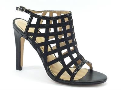 Sandali Cafè Noir per donna modello elegante nero glitterato