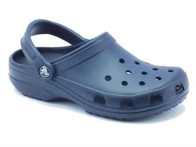 Articolo Sandali Crocs per donna in gomma blu modello classico