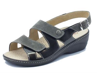 Sandalo Cinzia Soft camoscio grigio plantare estraibile