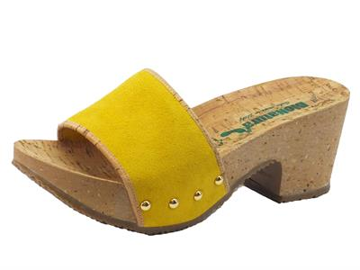 Articolo Zoccolo Bionatura per donna in camoscio giallo