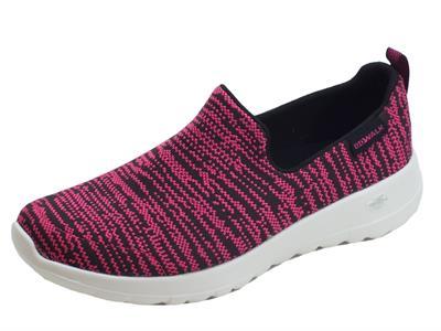 Articolo Mocassini Skechers Nirvana per donna in tessuto nero rosa