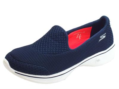 Mocassini Skechers Propel per donna in tessuto blu