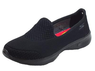 Articolo Mocassini Sportivi per donna Skechers Go Walk 4 in  tessuto nero