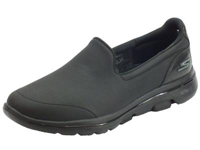 Articolo Skechers 15923/BBK Go Walk 5 Polished Black Mocassini sportivi per Donna air cooled goga mat