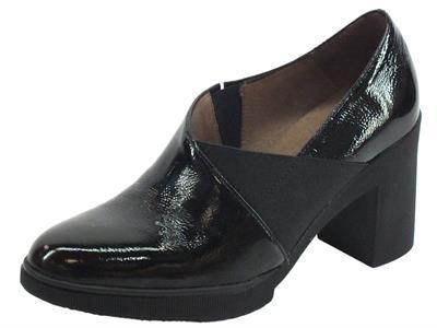 Articolo Wonders M-3720 Lack I Negro Mocassini Donna in pelle lucida nero tacco alto