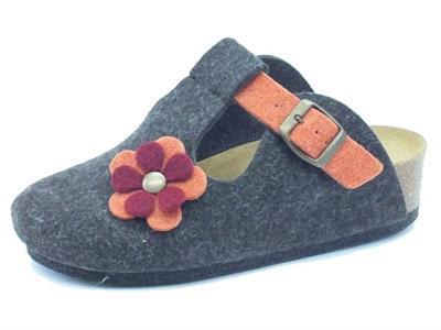 Articolo Ciabatte per donna Pregunta in lana cotta marrone
