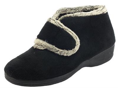 Articolo Cinzia Soft ED02859 Negro Pantofole chiuse per Donna in tessuto con chiusra a strappo