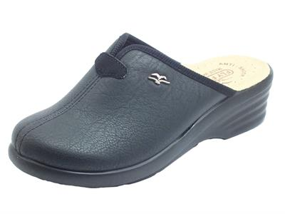 Articolo Fly Flot  L8 870 2E Nero Pantofole per Donna in ecopelle elasticizzata nera sottopiede anatomico