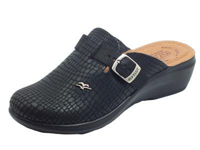 Articolo Fly Flot  Q7 882 EE Nero Pantofole per Donna in tessuto con fibietta di regolazione